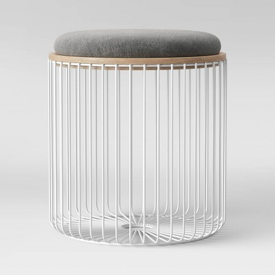 Wire Storage Table and Ottoman White - Room Essentials™