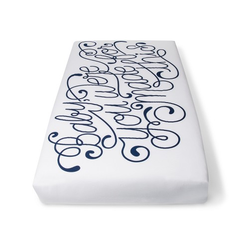 Crib Fitted Sheet - Cloud Island™ White - image 1 of 2