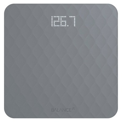 Designer Bathroom Scale with Textured Silicone Cover Gray -Greater Goods