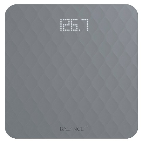 Designer Bathroom Scale with Textured Silicone Cover Gray -Greater Goods - image 1 of 5