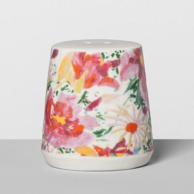 Floral Stoneware Salt Shaker Pink - Opalhouse™