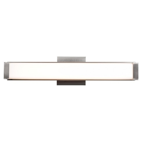 "Fjord 19""W LED Vanity Light - Brushed Steel - Opal Glass Shade - image 1 of 1"