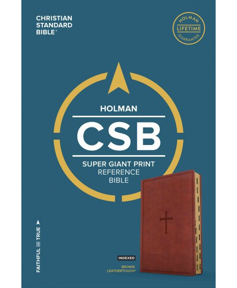 Holy Bible : Christian Standard Bible, Brown Leathertouch, Super Giant Print Reference Bible (Indexed) - image 1 of 1