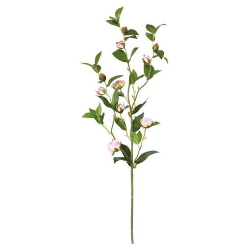 Artificial Tea Rose Spray (34'') Pink  - Vickerman - image 1 of 1