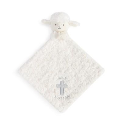 DEMDACO Lamb Rattle Blankie