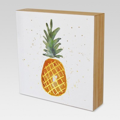 Pineapple Wood Flushmount Wall Art (6 x6 )- Project 62™