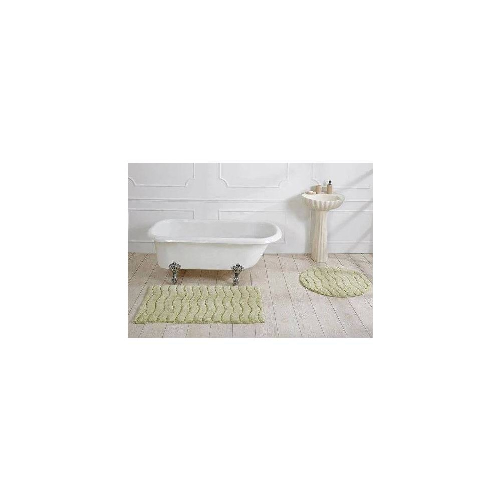 27 34 X45 34 Indulgence Collection 100 Ring Spun Cotton Rectangle Bath Rug Sage Better Trends