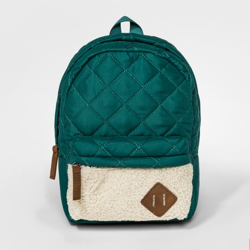 Toddler Girls' Quilted Backpack - Cat & Jack™ Green - image 1 of 2