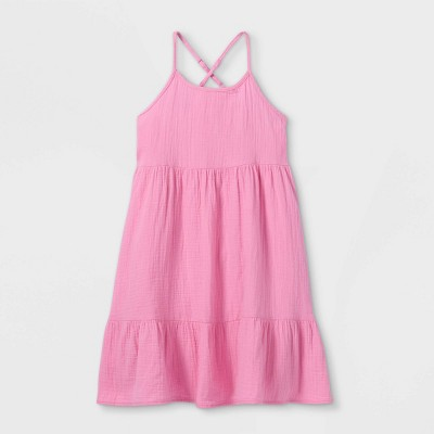 Girls' Gauze Sleeveless Dress - Cat & Jack™ Pink