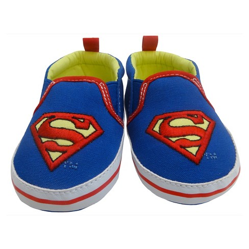 Baby Boys' Superman Crib Shoe - Blue/Red - image 1 of 5