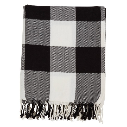 Buffalo Plaid Throw Blanket - Saro Lifestyle - image 1 of 4