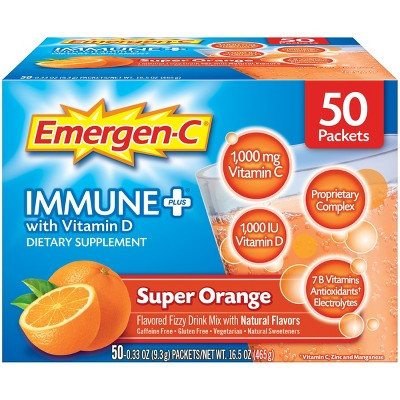 Emergen-C Immune+ - Orange - 50ct