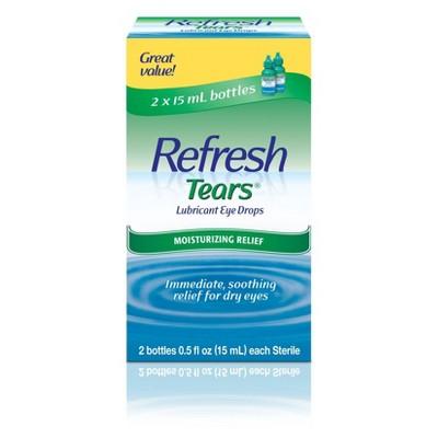 Refresh Tears Moisture Drops for Dry Eyes - 2ct/1 fl oz
