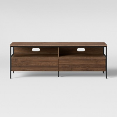 Loring Media Stand With Drawers Walnut Brown - Project 62™