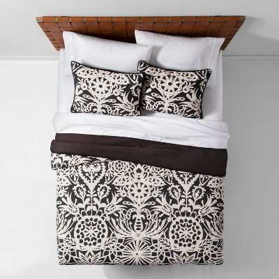Black Ananjassa Comforter Set (King)- Opalhouse™