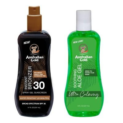 Australian Gold Soothing Aloe Sunscreen Spray Gel - SPF 30
