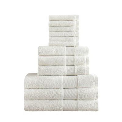 Chloe Bath Towel Set 12pc White - Makroteks