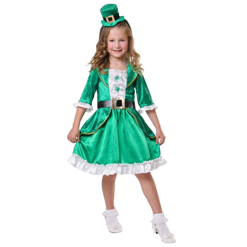 Girls' St. Patrick's Day Leprechaun Costume M - Spritz, Green