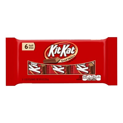 Kit Kat Full Size Candy Bars - 9oz/6ct