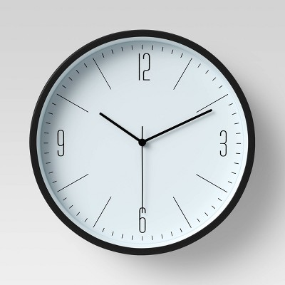 "6"" Plastic Table Top Wall Clock Black - Project 62™"