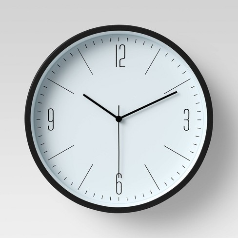 """6"""" Plastic Table Top Wall Clock Black - Project 62™ - image 1 of 4"""