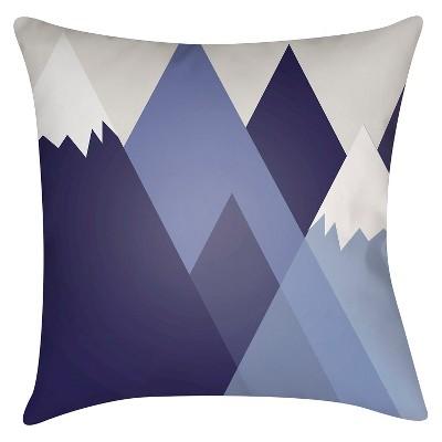 Navy Mountain Escape Throw Pillow 16 x16  - Surya