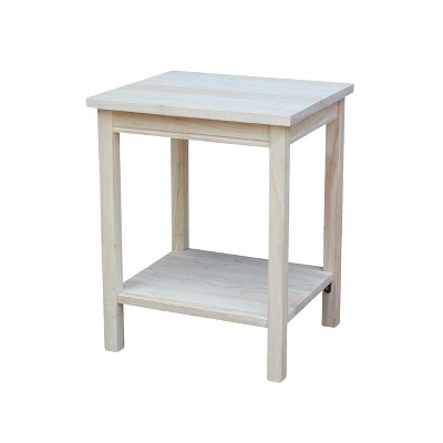 Portman Accent Table Unfinished - International Concepts