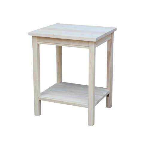 Portman Accent Table Unfinished - International Concepts - image 1 of 4