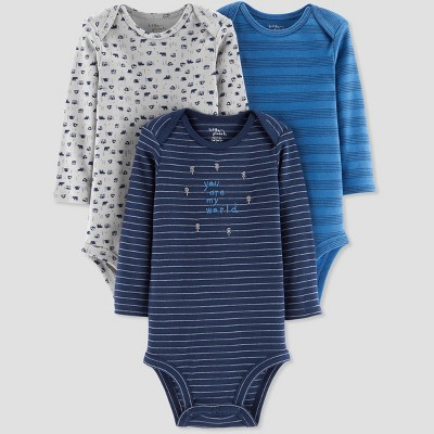 Baby Boys' 3pk You are my World Bodysuit - Little Planet by Carter's Blue 3M