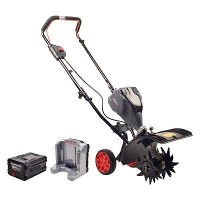 Powerworks TL60L2510PW 60V 8-Inch Brushless Tiller with 2.5Ah Battery and Charger Included, Black