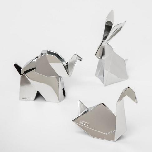 3pk Origami Ring Holder Stand Chrome - Umbra - image 1 of 4