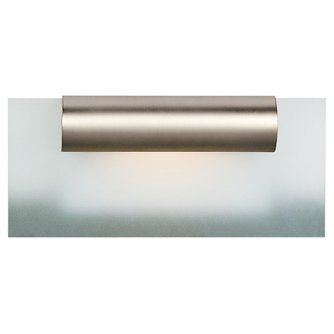 Roto Fluorescent Vanity Light Satin Chrome Finish with Frosted Glass Shade - image 1 of 1