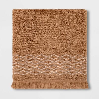 Diamond Weave Bath Towel Tan - Threshold™