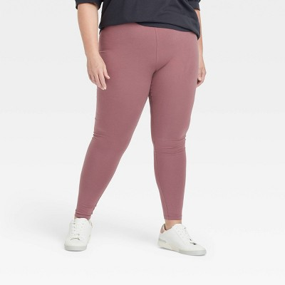 Women's Plus Size Mid-Rise Ankle Length Leggings - Ava & Viv™