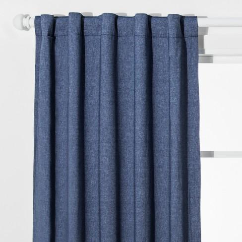 Chambray Blackout Curtain Panel Pillowfort Target