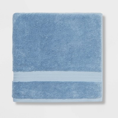 Antimicrobial Oversized Bath Towel Blue - Total Fresh