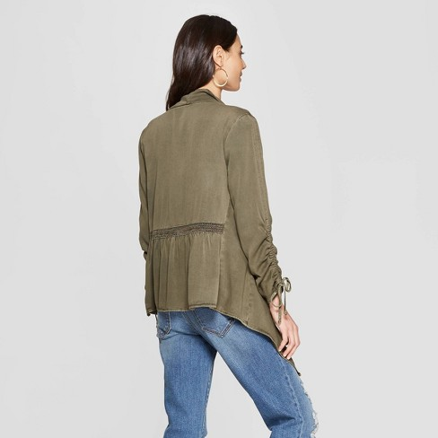 ae9081f42 Women's Long Sleeve Drapey Open Jacket - Knox Rose™ Green XL