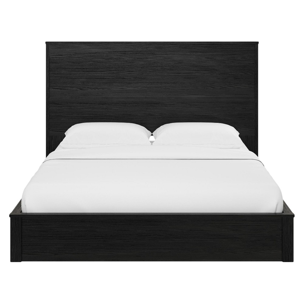 Crescent Point Queen Sized Bed and Headboard Black Oak - Ameriwood Home