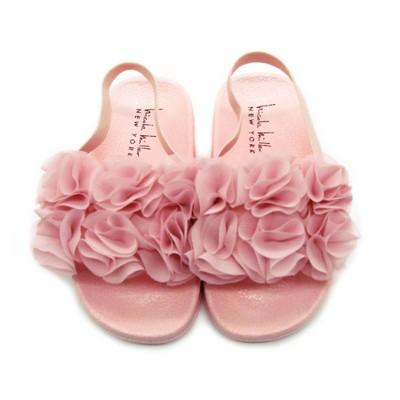 Nicole Miller Ruffled Flower Slides Toddler Girls