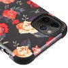 Insten Tuff Roses Hard Dual Layer Plastic TPU Case For Apple iPhone 11 Pro Max - Black/Red - image 3 of 4