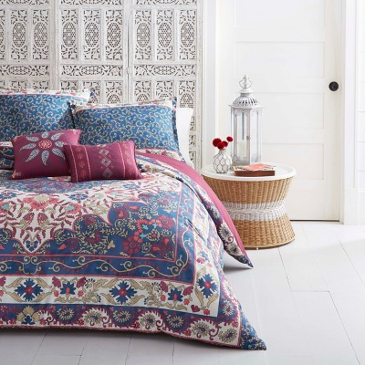 Blue Zahra Comforter Set (Full/Queen)- Azalea Skye