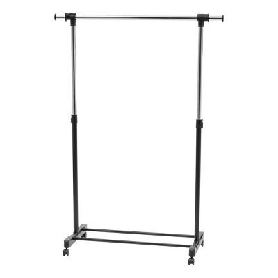 IRIS Garment Rack Adjustable and Extendable Rod Black