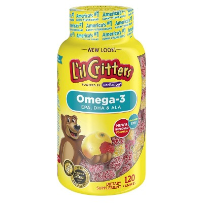 L'il Critters Omega-3 Dietary Supplement Gummies - Fruit - 120ct