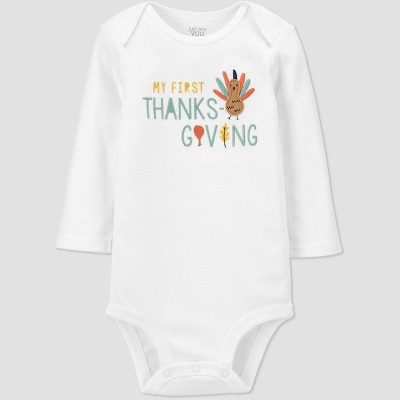 Baby 'My First Thanksgiving' Bodysuit - Just One You® made by carter's White Newborn