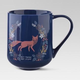 Porcelain Hey There Hot Stuff Mug 18oz Blue - Threshold™