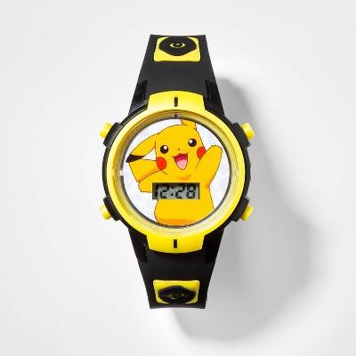 Boys' Pokemon Flashing LCD Watch - Black