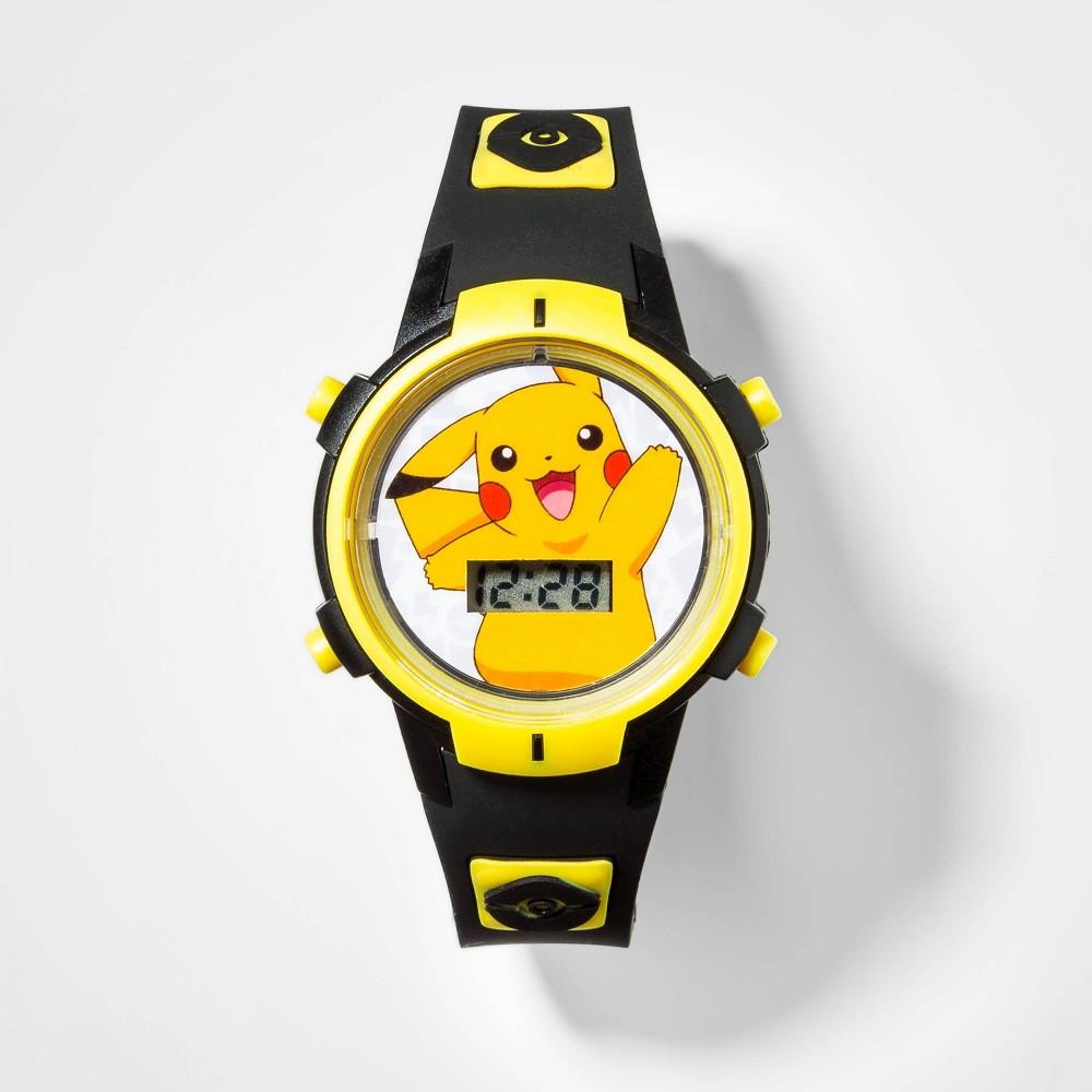 Image of Boys' Pokemon Flashing LCD Watch - Black, Boy's, Size: Small