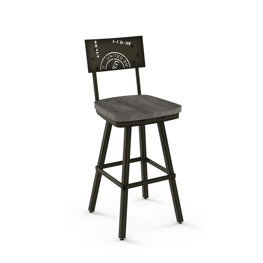 "Image of ""25.25"""" Amisco Jameson Counter Stool Light Gray"""