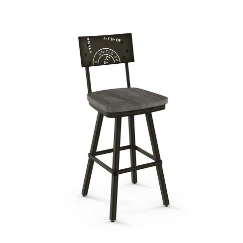 Awe Inspiring 29 25 Amisco Jameson Bar Stool Light Gray Machost Co Dining Chair Design Ideas Machostcouk