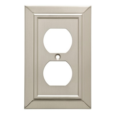 Franklin Brass Classic Architecture Single Duplex Wall Plate Nickel